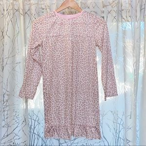 Carter's tan pink leopard long sleeve nightdress